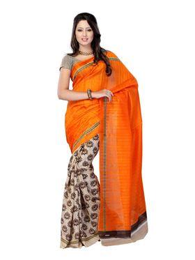 Pack of 2 Thankar Printed Bhagalpuri Saree -Tds137-203.204