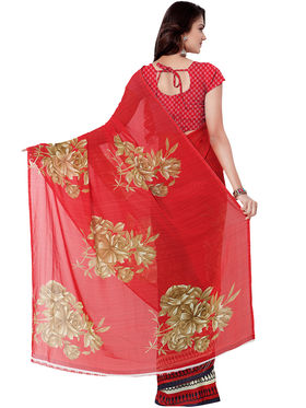 Combo of 3 Triveni Faux Georgette Printed Saree -Tsco54