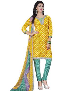 Triveni's Crape Printed Dress Material -TSLCSK9113