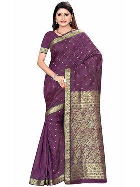 Triveni's Art Silk Zari Worked Saree -TSMRCCSR2061