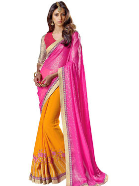 Triveni's  Georgette Embroidered Saree -TSNJU108