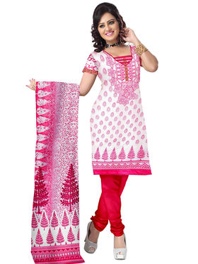 Triveni's Blended Cotton Printed Dress Material -TSSK13078