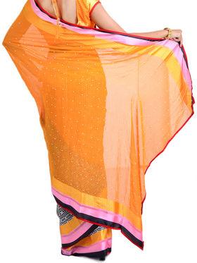 Rainbow Collection of 7 Designer Printed Sarees (7G18)