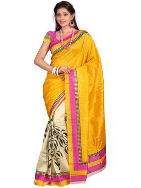 Pack of 3 Triveni Art Silk Printed Saree - TSCO14