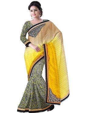 Triveni Satin,Chiffon,Faux Georgette Printed Saree - Multicolor - TSN71023