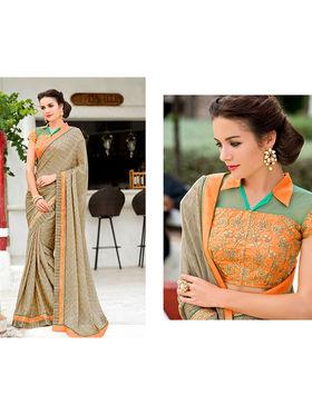 Nanda Silk Mills Embroidered Saree _VR-2200