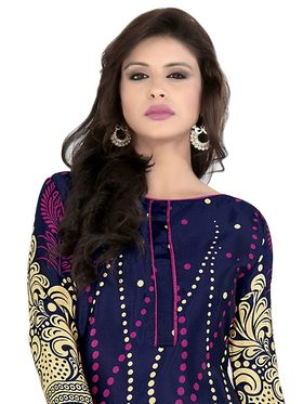 Khushali Fashion Crepe Printed Dress Material With Two Top -Vrmgev25024
