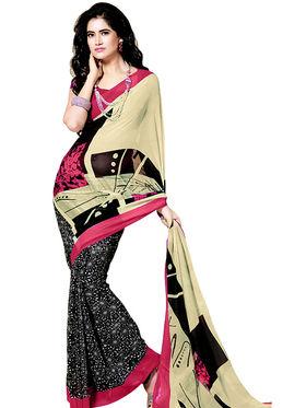 Khushali Fashion Printed Georgette Saree -kf03