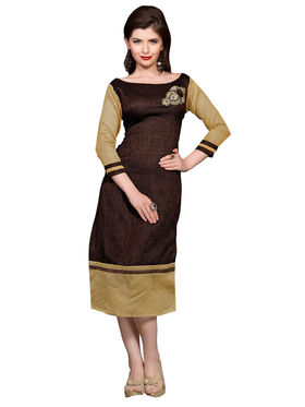 Khushali Fashion Bhagalpuri Self,Embellished Stitched Kurti -Vt2106