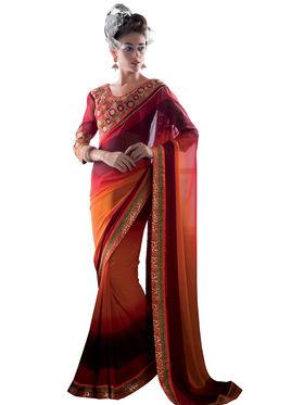 Viva N Diva Georgette Embroidered Saree Vanisha-2155