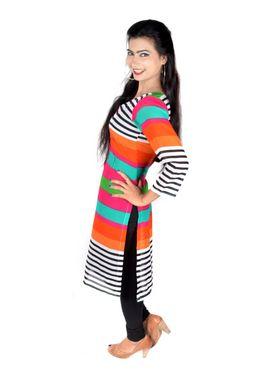 Vivaa Georgette Printed Long Kurti - Multicolour-VLK-11