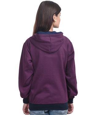 Eprilla Plain  Sweatshirt - Maroon -eprl66