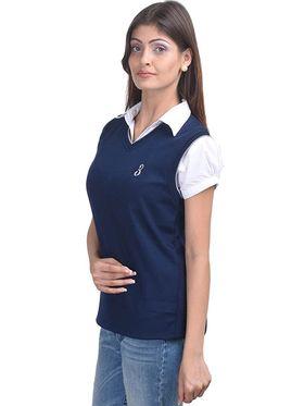 Pack of 2 Eprilla Spun Cotton Plain Sleeveless Sweaters -eprl07