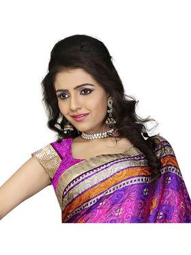 Khushali Fashion Silk Crepe Jacquard Saree(Pink,Multi)_YNCHN20552