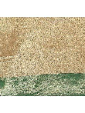 Zoom Fabrics Plain Cotton Silk Green & Gold Saree -Zm4017A