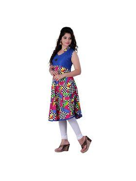 Viva N Diva Cotton Rayon Printed Kurtis -Zeesha-Vnd-2002-A