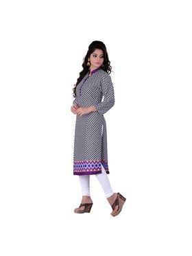 Viva N Diva Cotton Rayon Printed Kurtis -Zeesha-Vnd-2011-B