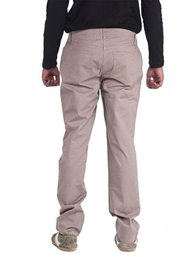 imFab Plain Cotton Chinos for Men -Tan
