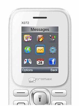 Micromax X072 Dual Sim Phone - White
