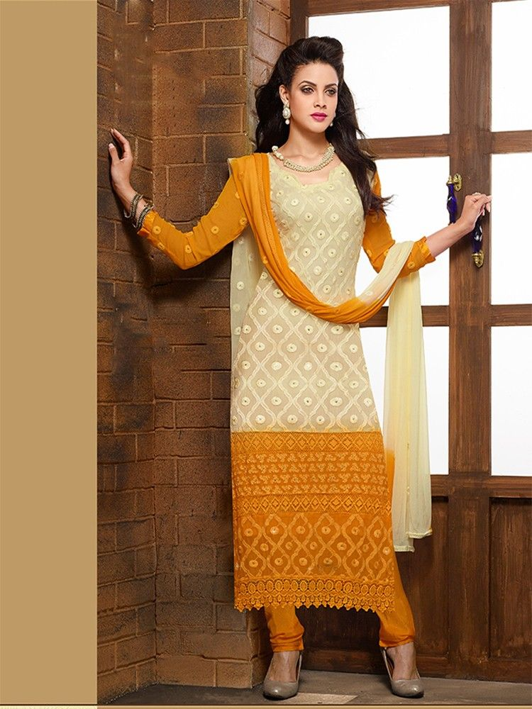Buy adah fashions karachi embroidered semi stitched dress