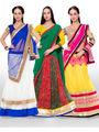 Pack of 3 Designer Triveni Semi Stitched Lehenga Cholis_Ts020481