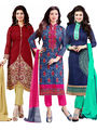 Pack of 3 Printed Shonaya PolyCotton Unstitched Dress Material