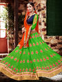 Viva N Diva Embroidered Georgette Green Lehnega Choli -19087-Gharana