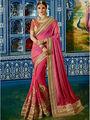 Viva N Diva Embroidered Satin Georgette Pink Saree -19497-Rukmini-04