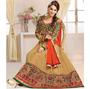 Adah Fashions Designer Georgette Semi-Stitched Suit - Brown - 479-107