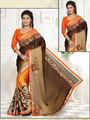 Viva N Diva Satin Embroidered Saree Anaisha-1008