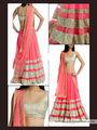 Arisha Net Embroidered Lehenga - Pink-5261