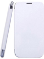 Camphor Flip Cover for Micromax A250 - White