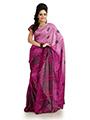 Printed Khadi Silk Saree - Magenta