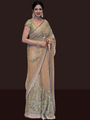 Ethnic Trend Georgette Multi Sequence Saree - Gold