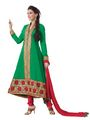 Florence Georgette Anarkali Semi-Stitched Suit-Green-SB-1440