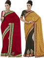 Pack of 2 Bahubali Embroidered Sarees - GAL881