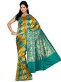 Ishin Cotton Silk Embroidered  Saree - Multicolour-SNGM-1549