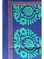 Ishin Printed American Crepe Saree - Blue & Green-ISHIN-1102
