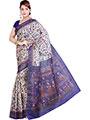 Ishin Printed Bhagalpuri Silk Saree - Multicolor-ISHIN-1110
