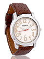 Marco Wrist Watch for Men - White_MR-GR020-WHT-BRW