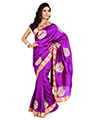 Embroidered Bhagalpuri Silk Saree - Purple-1343