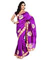 Embroidered Bhagalpuri Silk Saree - Purple-1343