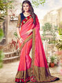 Indian Women Embroidered Paper Silk Multicolor Saree -Ra21010
