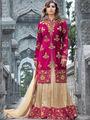 Regalia Ethnic Embroidered Pink Tapeta Silk Semi Stitched Suit - REPINK1001