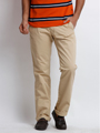 Skookie Plain Cotton Trouser For Men - Khaki_SKTR 133