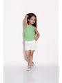 ShopperTree 100% COTTON Plain Girls Top With Short - Green