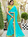 Nanda Silk Mills Embroidered Blue  Saree_VR-2209